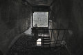 Abandon house ruins architecture fallen stairs Stock Images