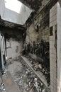 Abandon house ruins architecture fallen toilet Stock Image