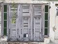 Abandon wood window pattern of old of house Stock Photo