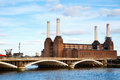 Abandonded battersea power station in london Stock Photo