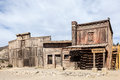 Abandoned american ghost town wooden buildings in an Royalty Free Stock Images