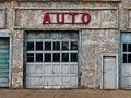 Abandoned Auto Shop Stock Image