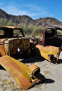 Abandoned autos mojave national preserve zzyzx Stock Photos