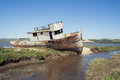 Abandoned boat, Point Reyes National Seashore, California Royalty Free Stock Photo