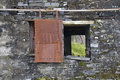 Abandoned building window derelict slate quarry Royalty Free Stock Photos