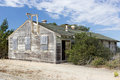 Abandoned buildings at historic fort ord take on ghost town appearance Royalty Free Stock Photo