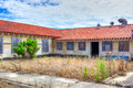 Abandoned buildings at historic fort ord take on ghost town appearance Royalty Free Stock Images