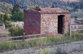 Abandoned buildings in Historic Gold Mine in Victor Colorado Royalty Free Stock Photo