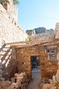 Abandoned buildings spinalonga fortress crete greece Stock Images