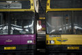 Abandoned bus fleet. Royalty Free Stock Photo