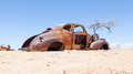Abandoned car in the Namib Desert Royalty Free Stock Photo