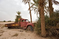 Abandoned car in Sahara Desert, Morocco Royalty Free Stock Photo