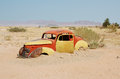 Abandoned car in solitaire namibia Royalty Free Stock Image
