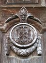 Abandoned castle front wooden door detail #3 Royalty Free Stock Photo
