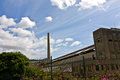 Abandoned cement works Royalty Free Stock Photo