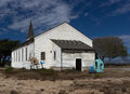 Abandoned chapel at historic fort ord east garrison Royalty Free Stock Photo