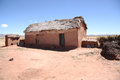 Abandoned clay house in Bolivian Altiplano Royalty Free Stock Image