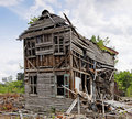 Abandoned Collapsing House Royalty Free Stock Photo