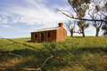 Abandoned cottage australia early settlers in rural Stock Image
