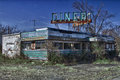 Abandoned Diner Stock Images