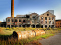 Abandoned factory Royalty Free Stock Photos