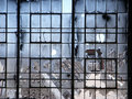 Abandoned Factory - Broken Windows Stock Photography