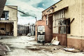 Abandoned factory after the economic crisis Royalty Free Stock Photo