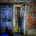 Abandoned farm door Royalty Free Stock Photo