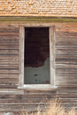 Abandoned farm house window close up of an Royalty Free Stock Photos