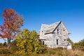 Abandoned farmhouse ruin New Brunswick NB Canada Royalty Free Stock Photo