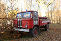 Abandoned fire engine Royalty Free Stock Photo