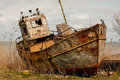 Abandoned fishing boat Royalty Free Stock Photo