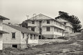 Abandoned fort ord army post in black and white Royalty Free Stock Images