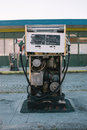 Abandoned gas pump at the station Royalty Free Stock Photo