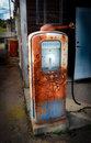 Abandoned gas station and rusty in sweden Stock Photography