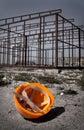 Abandoned Hard Hat Royalty Free Stock Photo