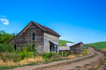 Abandoned homestead old in palouse region of washington state Royalty Free Stock Image