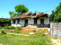 Abandoned house in the channels of danube in danube delta dunarea landscape donau dobrogea romania Royalty Free Stock Images