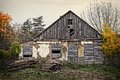 Abandoned house old deserted wooden farm Royalty Free Stock Photo