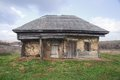 Abandoned house state disrepair crimea ukraine Stock Images