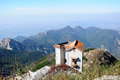 Abandoned house on tai shan an the top of mount in an china shandong province Stock Image