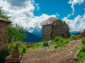Abandoned houses in svaneti georgia Royalty Free Stock Images