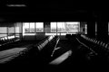 Abandoned jfk airport check in lounge at in new york Stock Photography