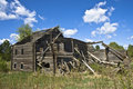 Abandoned log house Royalty Free Stock Image