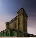 Abandoned Michigan Central Station in Detroit Royalty Free Stock Photo