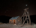 Abandoned Mine at Night Stock Photos