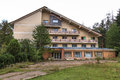Abandoned motel old in soveja resort romania Royalty Free Stock Photography
