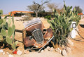 Abandoned old car in solitaire namibia Stock Image