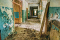 Abandoned Old House Interior. Forsaken building Royalty Free Stock Photo