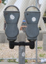Abandoned old parking meters in New York Royalty Free Stock Photo